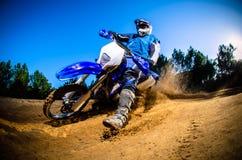 stock image of  enduro bike rider