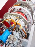 stock image of  engine turboprop aircraft at exhibition