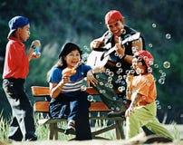 stock image of  enjoy family