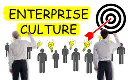 stock image of  enterprise culture concept drawn by businessmen