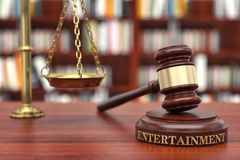 stock image of  entertainment law