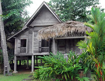 stock image of  ethnic rural southeast asian house on stilts