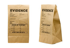 stock image of  evidence bag
