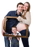 stock image of  expecting family