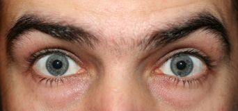 stock image of  eyes wide open