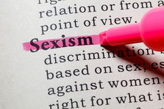 stock image of  definition of sexism
