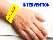 stock image of  fall risk intervention