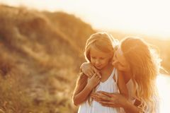 stock image of  family. mother and daughter. together