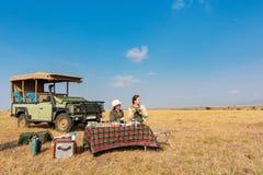 stock image of  family safari