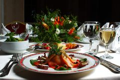stock image of  fancy dinner
