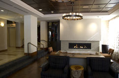 stock image of  fancy hotel lobby