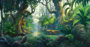 stock image of  fantasy forest