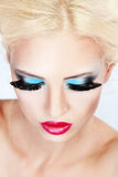 stock image of  fashion make-up