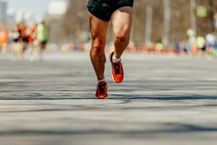 stock image of  feet man runner