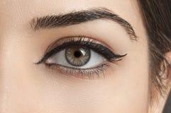 stock image of  female eye
