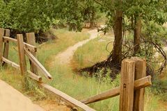 stock image of  fence path
