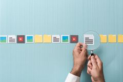 stock image of  file search and analysis