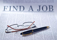 stock image of  find a job