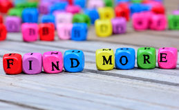 stock image of  find more words on table