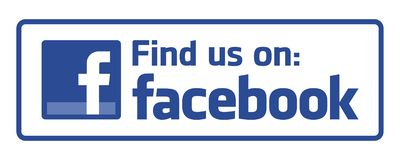 stock image of  find us on facebook