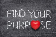 stock image of  find your purpose heart