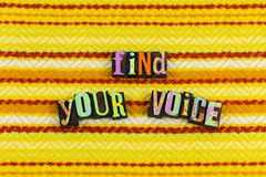 stock image of  find your voice leadership