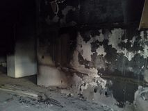 stock image of  fire damage