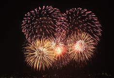 stock image of  fireworks show
