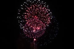 stock image of  fireworks on the 4th of july