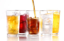 stock image of  fizzy soft drinks