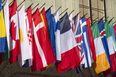 stock image of  flags