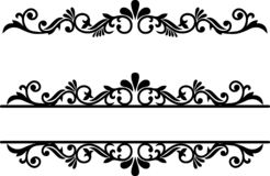 stock image of  flourish element, dividers line, ornamental border, fancy underline