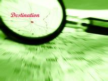 stock image of  focus on destination