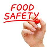 stock image of  food safety handwritten with red marker