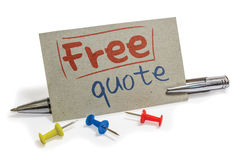 stock image of  free quote