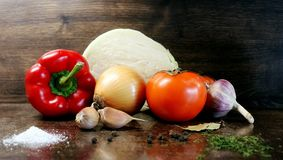 stock image of  fresh vegetables. spice. vegetables and spices. fresh vegetables and spices ready for cooking. dietary food. healthy eating. veget