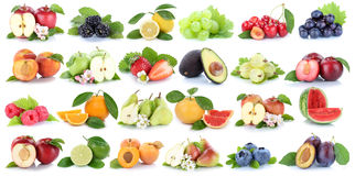 stock image of  fruits fruit collection orange apple apples banana strawberry is