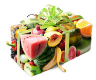 stock image of  fruits gift