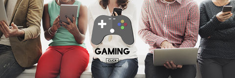 stock image of  gaming game playing solutions strategy hobbies concept