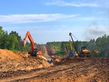 stock image of  gas pipeline laying