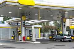 stock image of  gas station