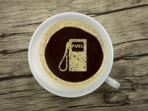 stock image of  gas station offers coffee
