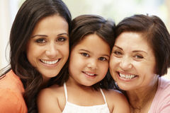 stock image of  3 generations hispanic women