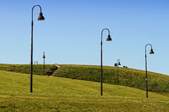 stock image of  gijón cimadevilla park