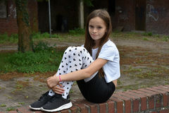 stock image of  girl with fancy pair of tights