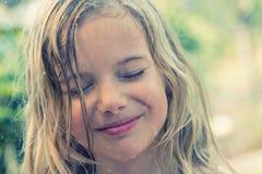 stock image of  girl in rain