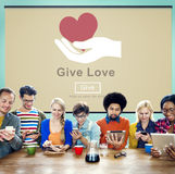 stock image of  give love donation kindness charity concept
