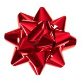 stock image of  glossy red gift bow