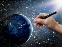 stock image of  gods intervention in human affairs on earth
