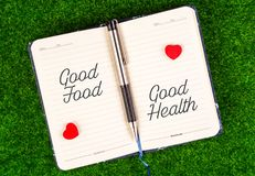stock image of  good food equal good health